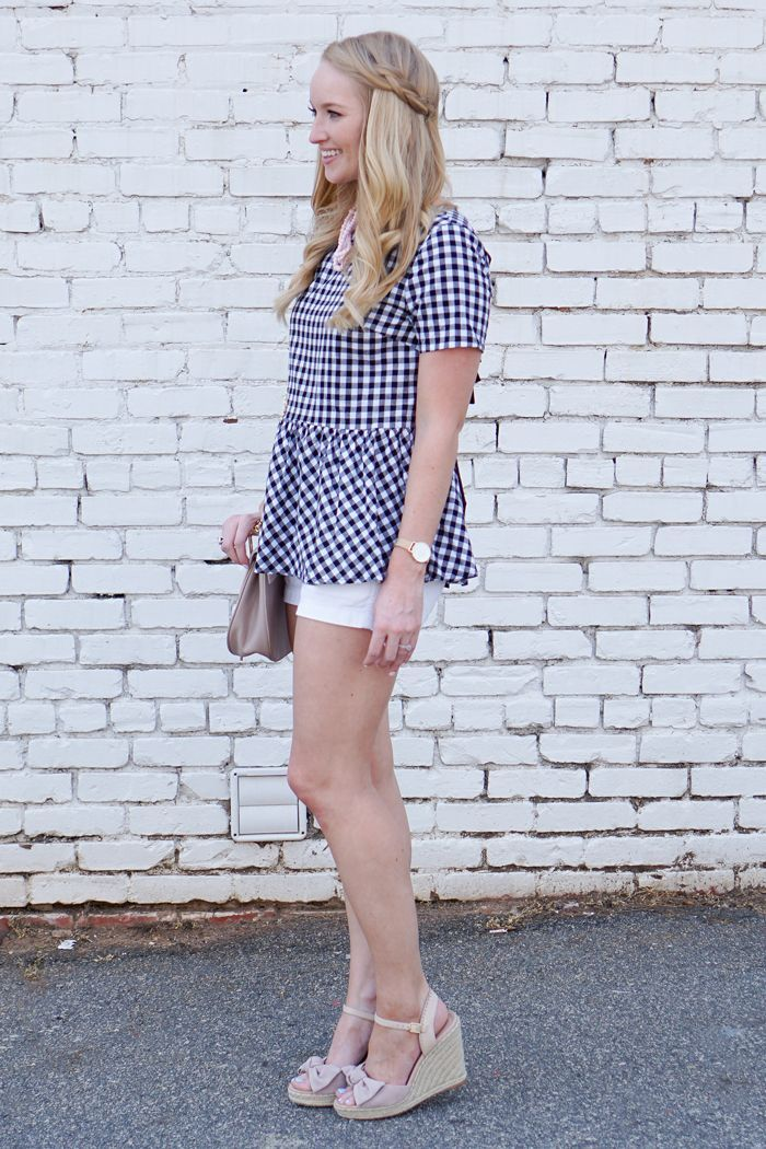 affordable gingham top with the cutest bow tied back