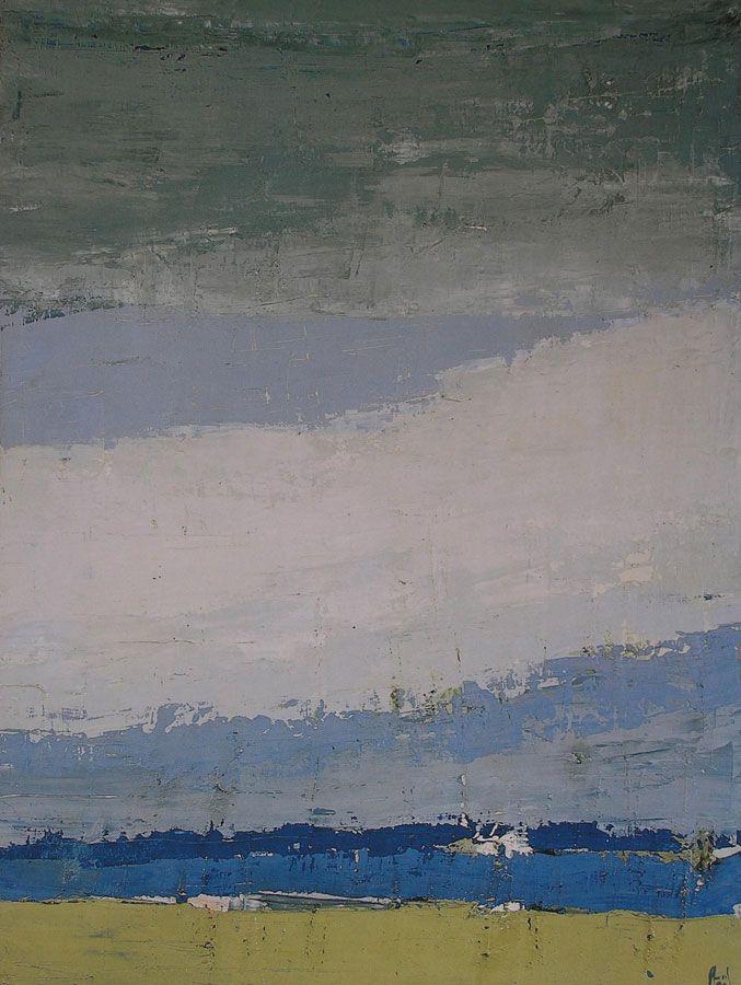 Nicolas de Stael: Sky in Honfleur, 1952. #AbstractPainting #Art #NicolasDeStael ils l'ont peint les plus grands peintres