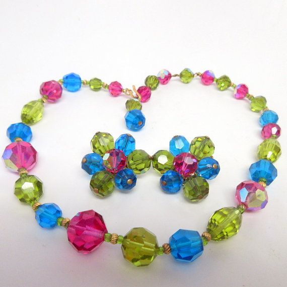 Vintage HATTIE CARNEGIE Crystal Necklace and by JewelryMenagerie