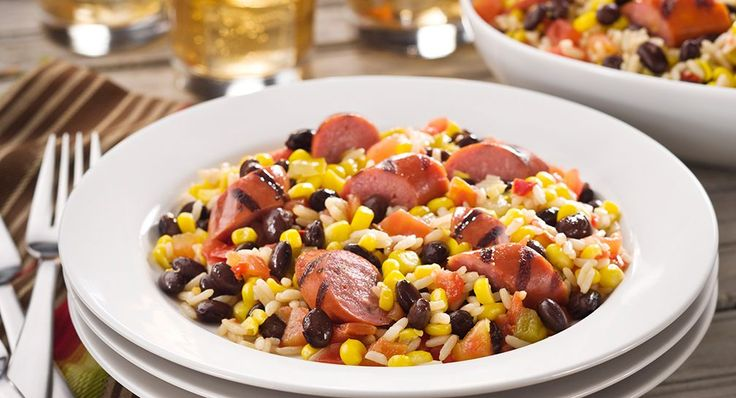 Try a grilled sausagetransformation tonight. Turn McCormick® Grill Mates® Chipotle & Cheddar Smoked Sausage into a meal with flavors from theSouthwest. Think black beans, chilies, Mexi-corn...