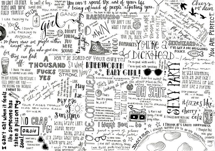 My Mad Fat Diary quotes artwork by girlinplaits.tumblr.com