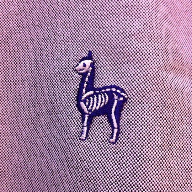 スケルトンのアルパカの刺繍が入ったBDシャツが原宿のトーキョーカルチャートbyビームスさんにて新☆発☆売でっす