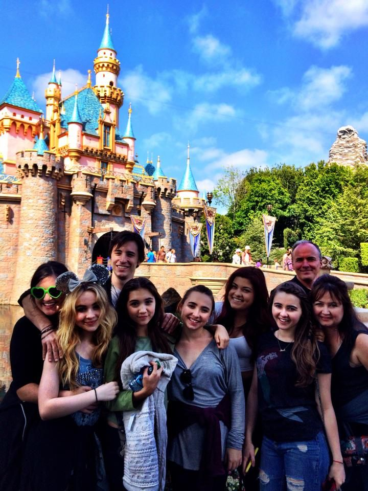 """Hanging out at Disneyland with Sabrina Carpenter and Rowan Blanchard from """"Girl Meets World"""", and all of Sabrina's awesome family!"""