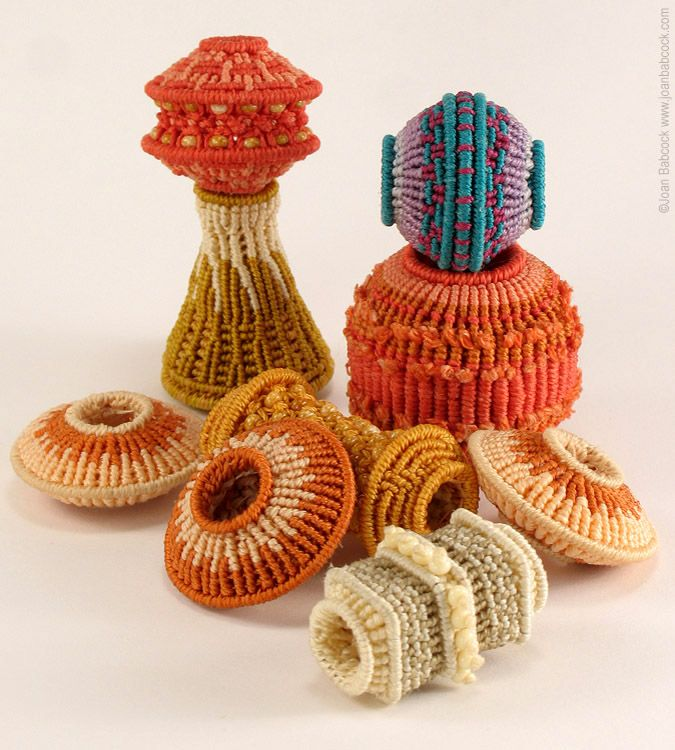 Fiber beads Joan Babcock. I really want to learn how to make these.  I love make beads . . . beaded beads, fiber beads, fabric beads, etc.