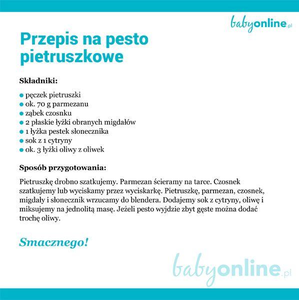 Pesto pietruszkowe bogate w żelazo dla kobiet w ciąży | Baby online