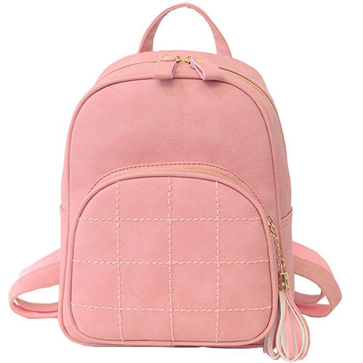 WELLVO Simple Style Embroidery Women Small Backpack Black Leather Women Backpack Fashion Female Backpacks RUSACK MOCHILA XA878B