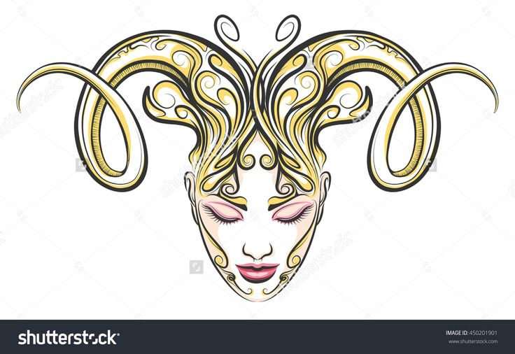 stock-vector-hand-drawn-beautiful-female-face-with-ram-horns-illustration-in-tattoo-style-aries-zodiac-sign-450201901.jpg (1500×1032)