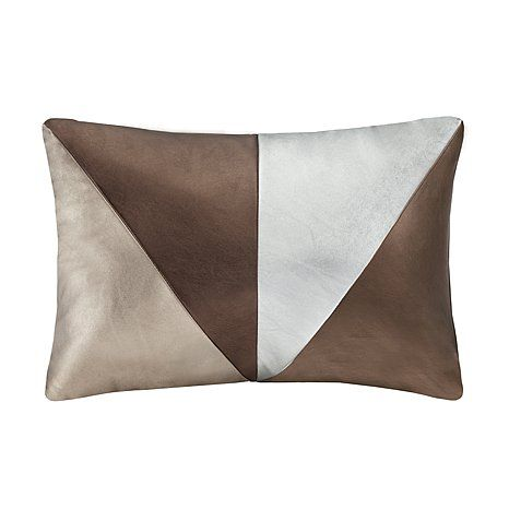 Home Decorative Faux Leather Cushion White