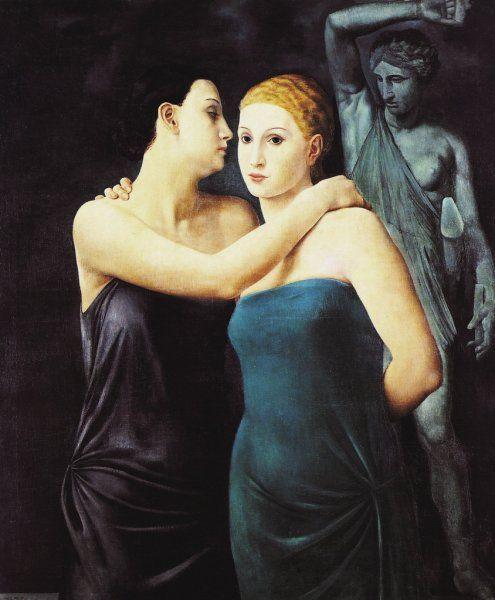 Ubaldo Oppi (1889 – 1946, Italian) - The Friends (Le amiche), 1924