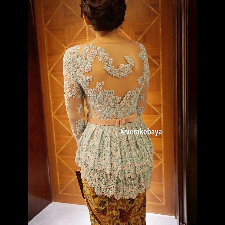 """... #backdetail #peplum #lace #kebaya #batik #partydress"""