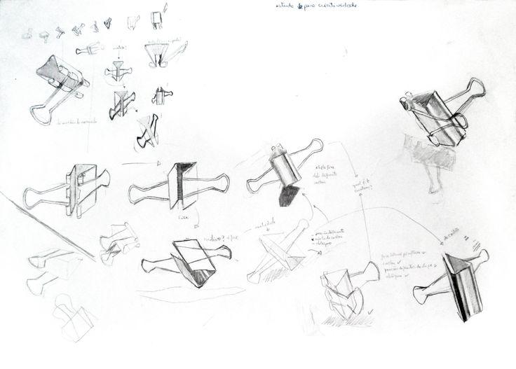 Jean Chiodi : Estudos. Grafite s/ papel, 42 x 29,7 cm