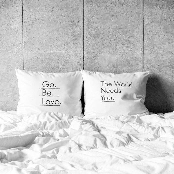 poszewki na poduszki - go. be. love. w White Place na DaWanda.com