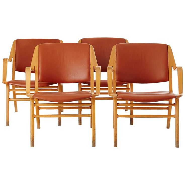 Set of Four Ax Easy-Chairs by Peter Hvidt and Orla Molgaard-Nielsen