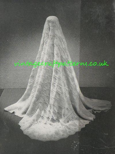 State Occasion  shetland lace baby shawl vintage by Ellisadine, £1.00