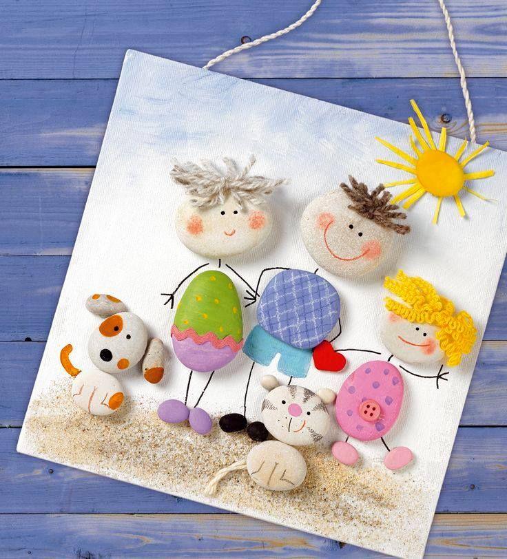 Творчество с детьми из гладких камней