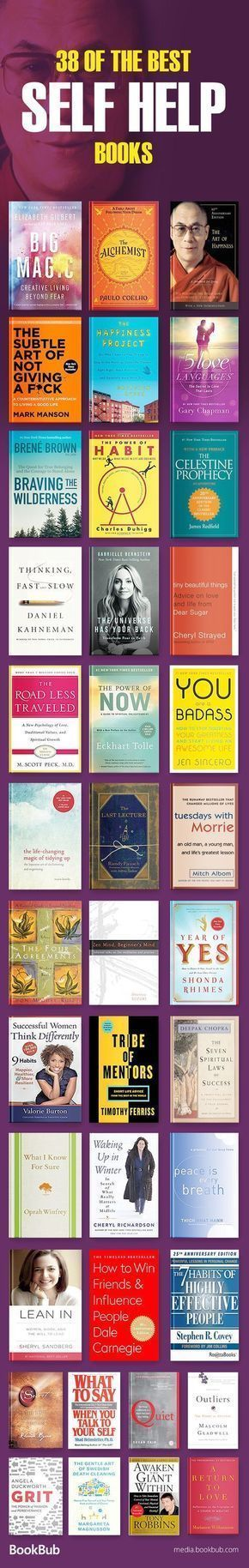Great list of self help books for women, teachers, young adults, and more. Inclu…