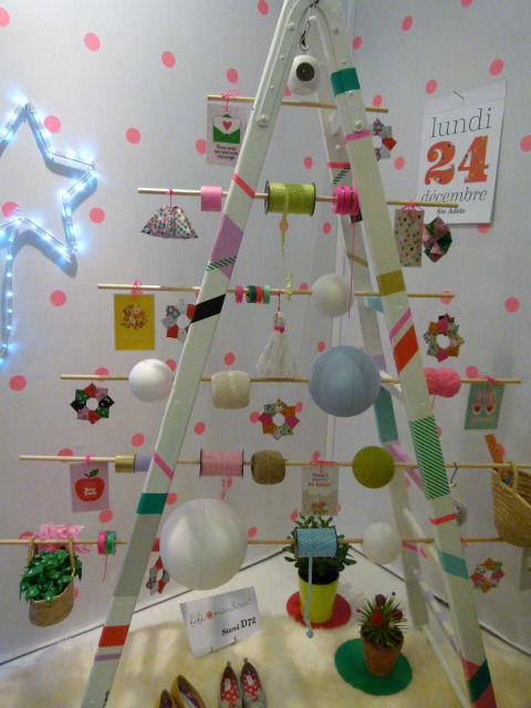 sapin échelle [Inspiration Mondial Tissus] On réinvente le sapin de Noël !