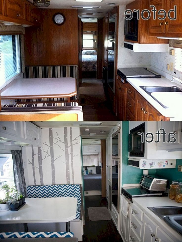 16 Simple Interior Design Ideas For Living Room: 16+ Simple RV Remodels On A Budget: Before And After