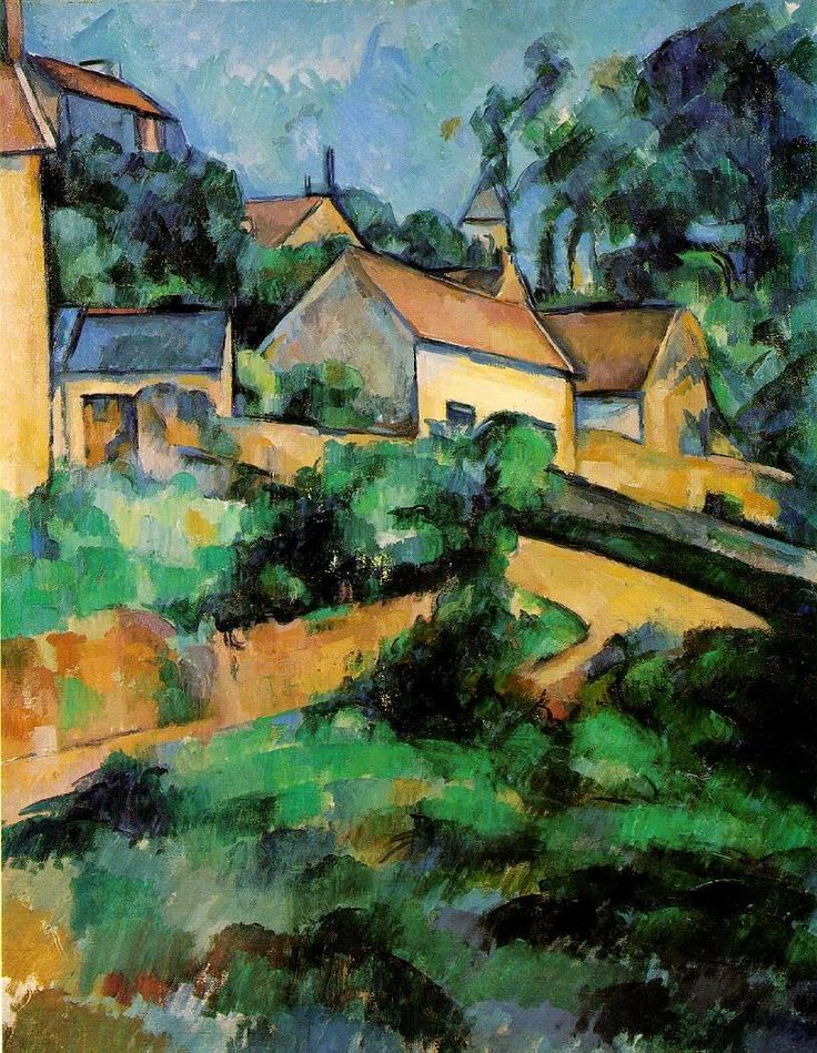 Paul Cezanne, (1839-1906) Hairpin turn to montgeroult, 1898.