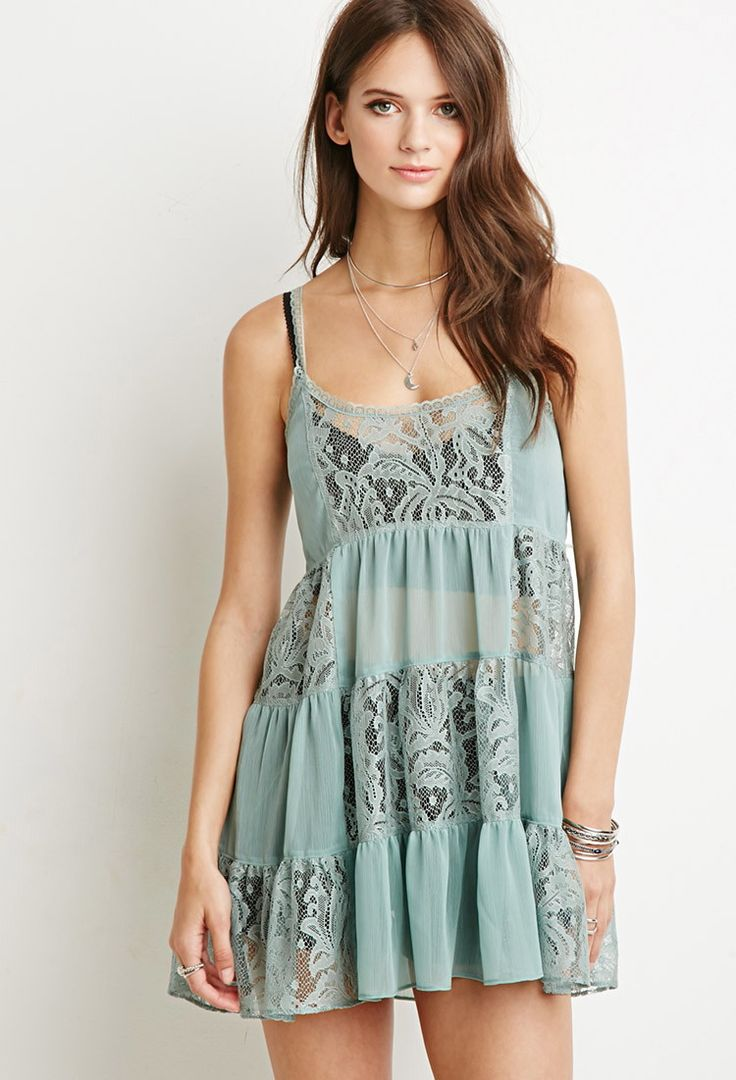 Lacy Crepe Tiered Dress | Forever 21 Canada