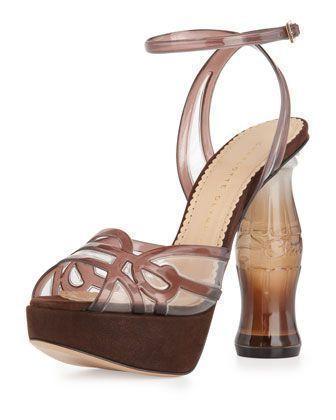 6a60d3c15c39e Charlotte Olympia Soda Bottle-Heel Platform Sandal - Neiman Marcus   charlotteolympiaheelsneimanmarcus