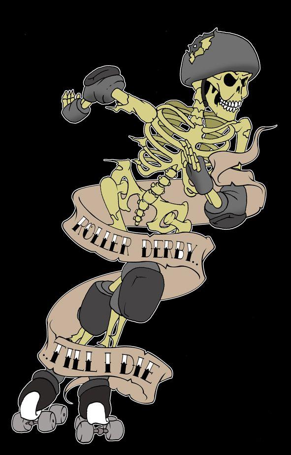 roller derby zombie by *yayzus on deviantART