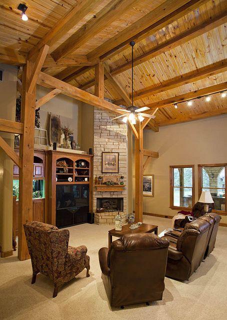 Full Timber Frame Home by Texas Timber Frames, via Flickr