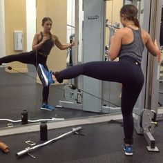 Sumo squat + abductor lift combos on the cable machine! Use the ankle straps that came with your resistance bands or lateral bands to switch up your workouts! Getfitandthick.com to shop! #fitandthickworkout #fitandthickresistancebands