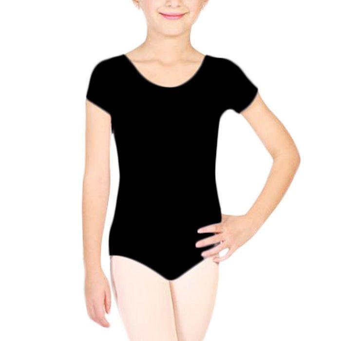 Cotton Ballet Clothes For Girls Short Sleeve Ballet  Bodysuit Leotards Girls Dancewear