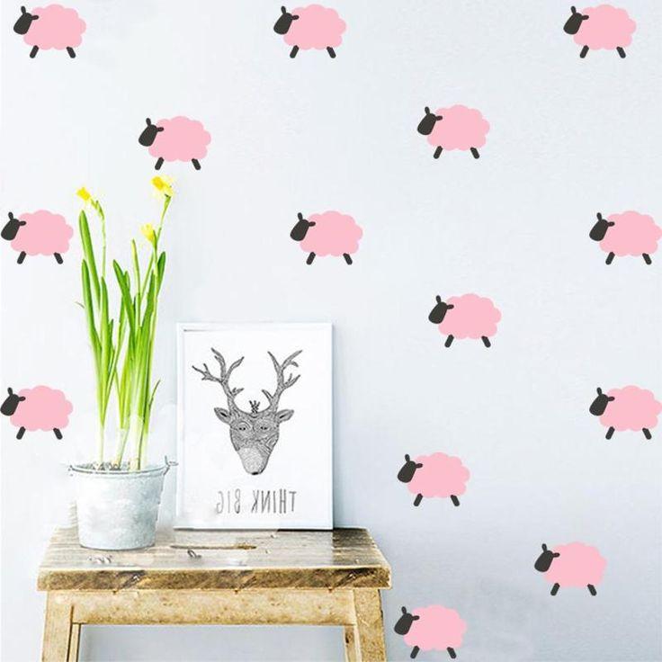 Little Ice Cream Wall Sticker Cake Sheep Stickers Cartoon DIY Wall Decals Kids Room decoration A2