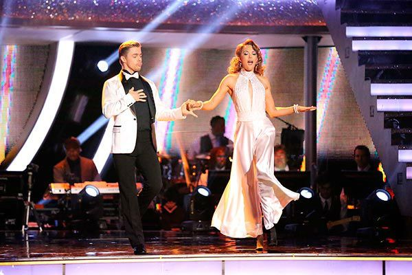 Amy Purdy and Derek Hough appear in a still from 'Dancing ...
