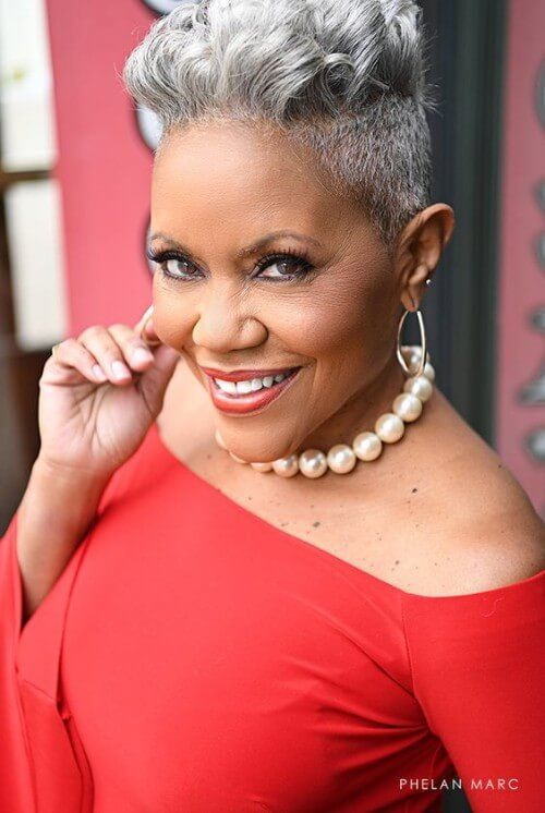 Hairstyles For Black Women Over 60 Hair Stylin Grey Hair Short