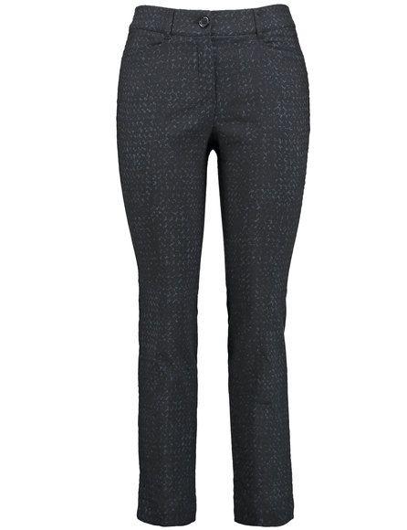 Een stretch-comfortabele broek voor stijlvolle mode! Het contrast geweven patroon en de perfecte pasvorm maken deze broek perfect. Prachtig vormgegeve...