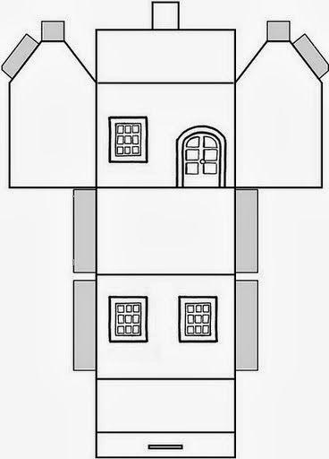 Educar X: Molde de casas de papel para montar                              …