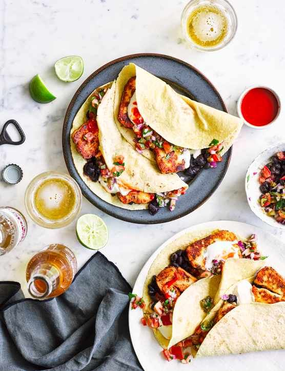 Vegetarian Tacos With Halloumi and Pico De Gallo These quick and easy vegetarian tacos are the perfect treat for a midweek family dinner.