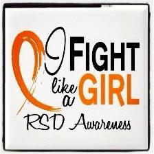 I Fight Like a Girl- RSD Awareness  #crps #burningforacure