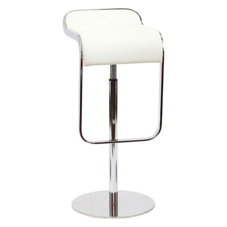 modway lem leather adjustable bar stool eei138blk