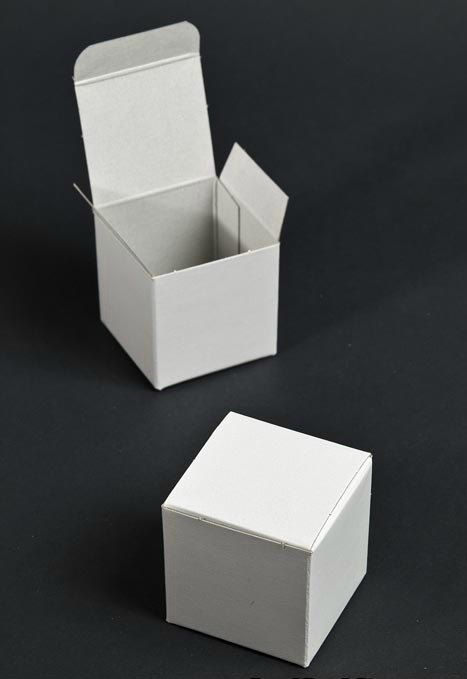White Gift Boxes Lot of 25 2x2x2 Fold and Tuck Gift by MrOzNaps