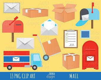 80% SALE post office clipart, MAIL clipart, happy mail clipart, delivery clipart, commercial use, package/box/planner accesories