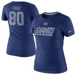 Nike Victor Cruz New York Giants Women's Player Name and Number T-Shirt -  Royal · New York GiantsMujeres NikeAzul RealTiendas ...