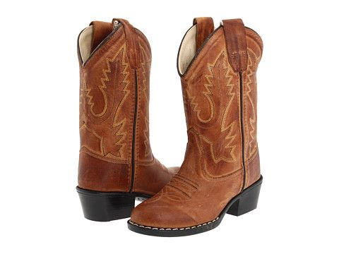 Old West Kids Boots Round Toe Western Boot (Toddler/Youth) Tan Canyon - Zappos.com Free Shipping BOTH Ways