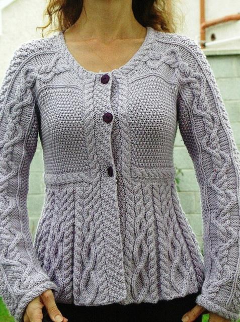 hermoso chaleco tejido a palillos (para Kiki)