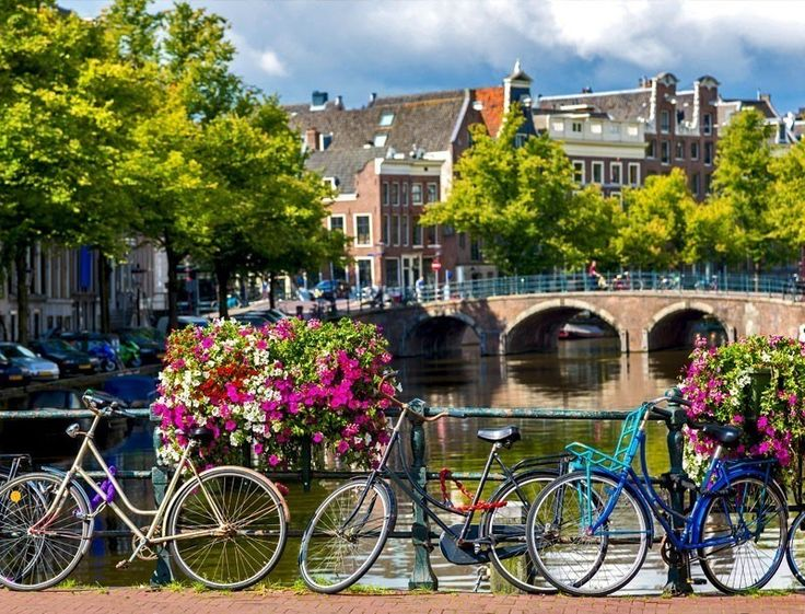 Bicycles on a bridge over the canals of Amsterdam. Amsterdam is the capital and most populous city of the Netherlands | TOP 10 Tourist Attractions in Amsterdam You Need to Visit