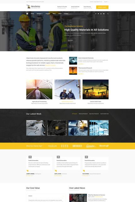 Manufactory! #architecture  #business #responsive #wordpress #Template Buy Template - http://www.templatecrea.com/wordpress-themes-type/65877.html