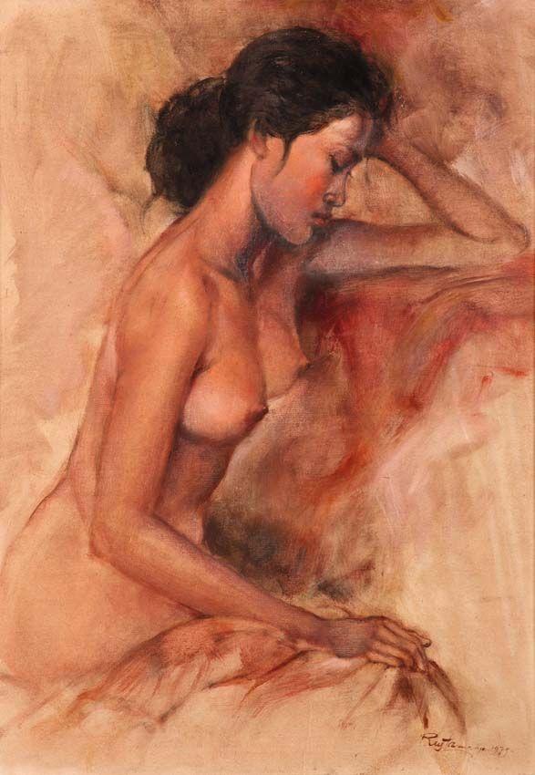Rustamadji (Surabaya, 1932 – 1990) - Nude, 1979