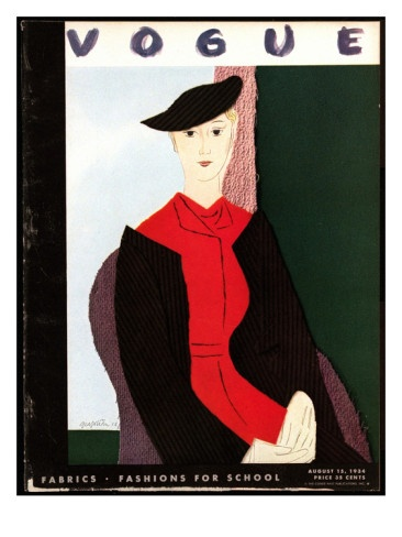Vogue Cover - August 15 1934 Poster Print by R.S. Grafstrom at the Condé Nast Collection