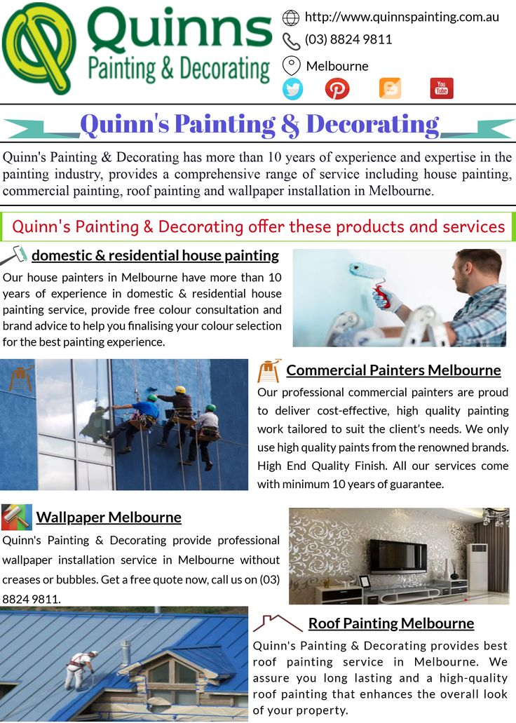 Quinn's Painting & Decorating provide cutting edge #wallpaper  installation and #painting services in #melbourne
