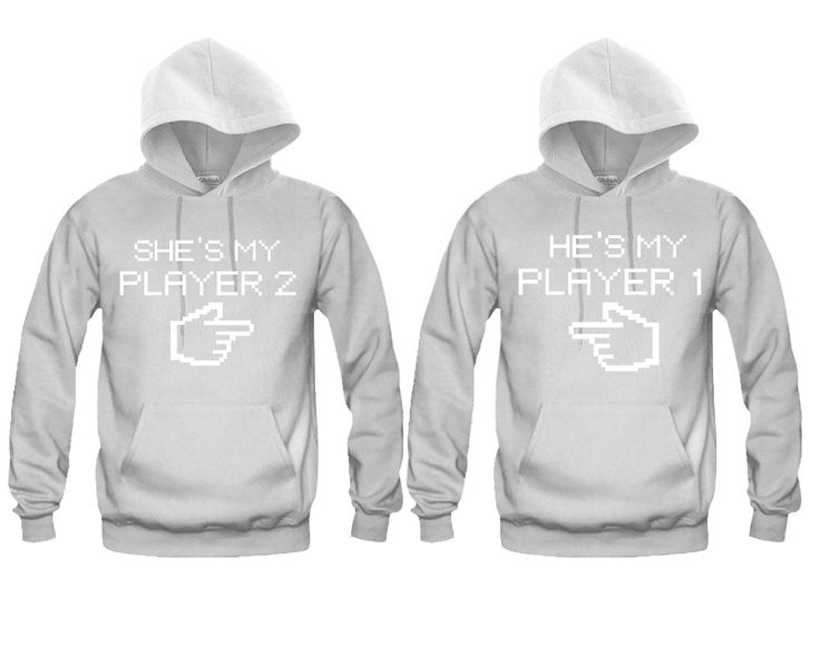 He's My Player 1- She's My Player 2 Unisex Couple Matching Hoodies