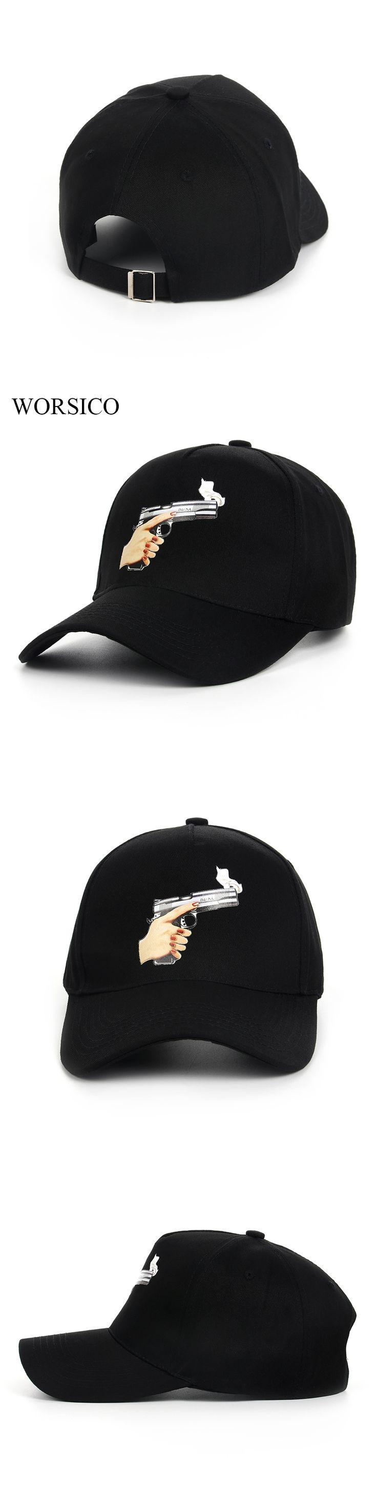 worsico top selling gun baseball cap men fashion 2017 snapback hip hop cap women curve visor hats casquette de marque