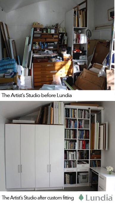 Before & After of #Art #Studio Lundia Design & Space, Optimisation #craft #storage NZ
